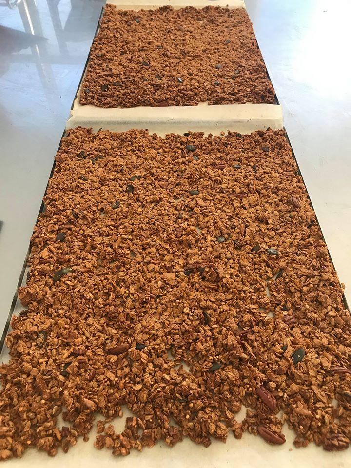 granola frissen sütve