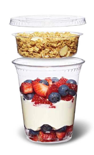 granola pohár joghurttal