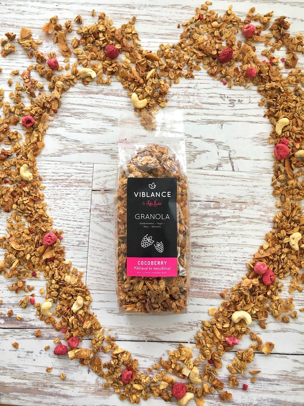 Cocoberry granola csomagolás