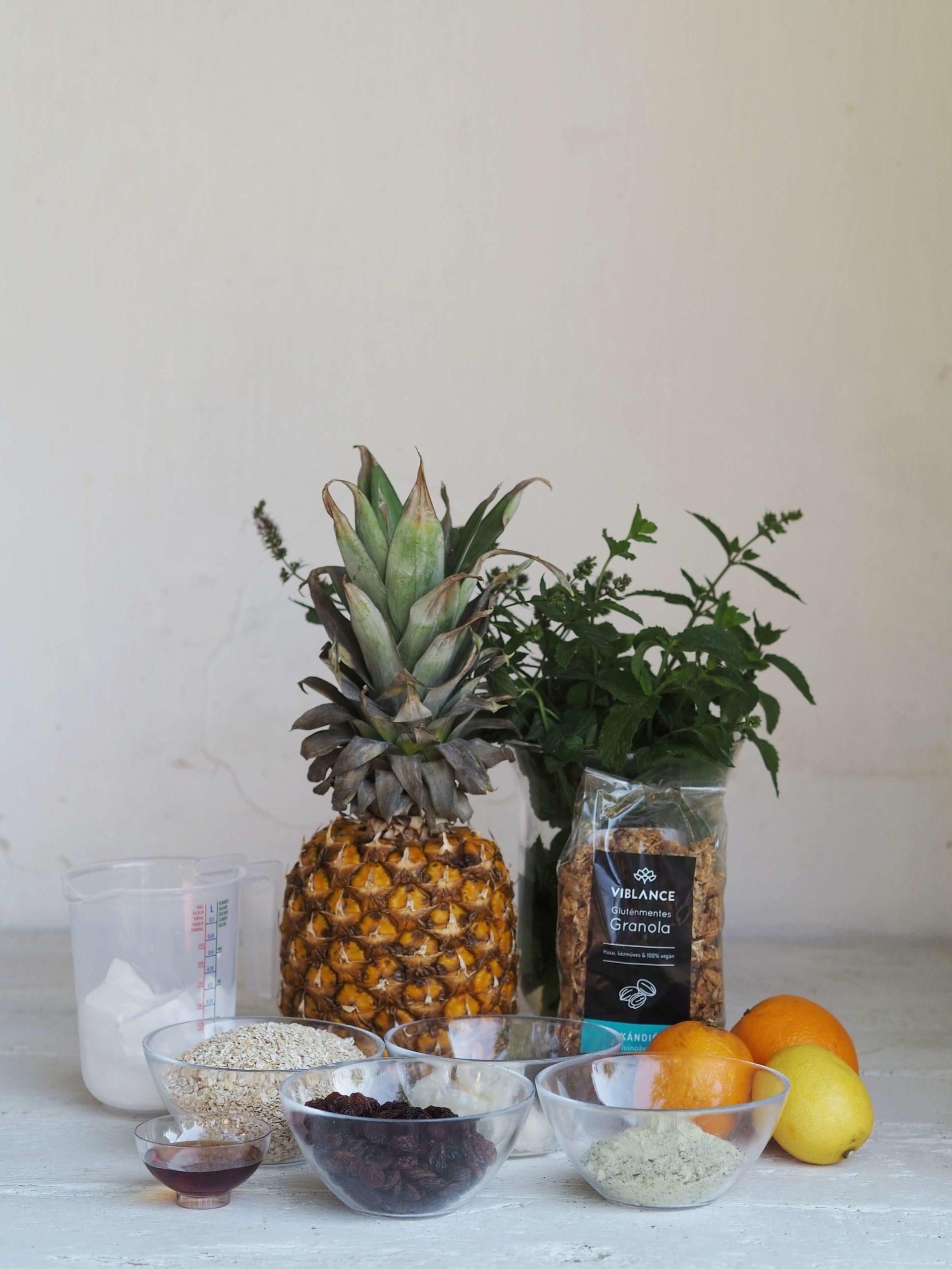 vegán ananászos mini torta