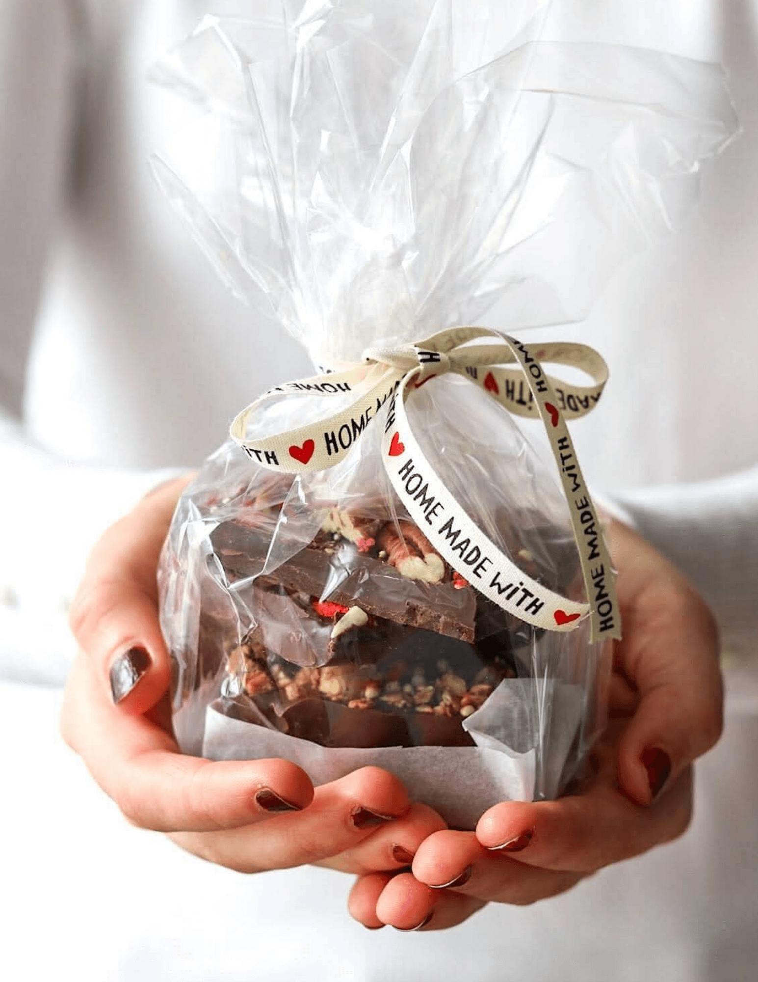 házi csokoládé ajándékba