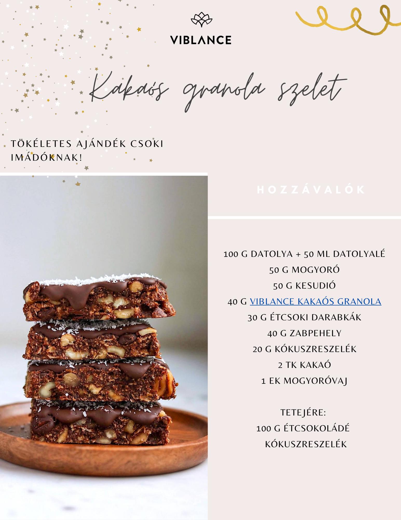 granola szelet recept