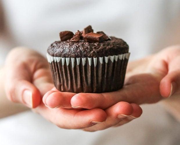 vegán csokis muffin