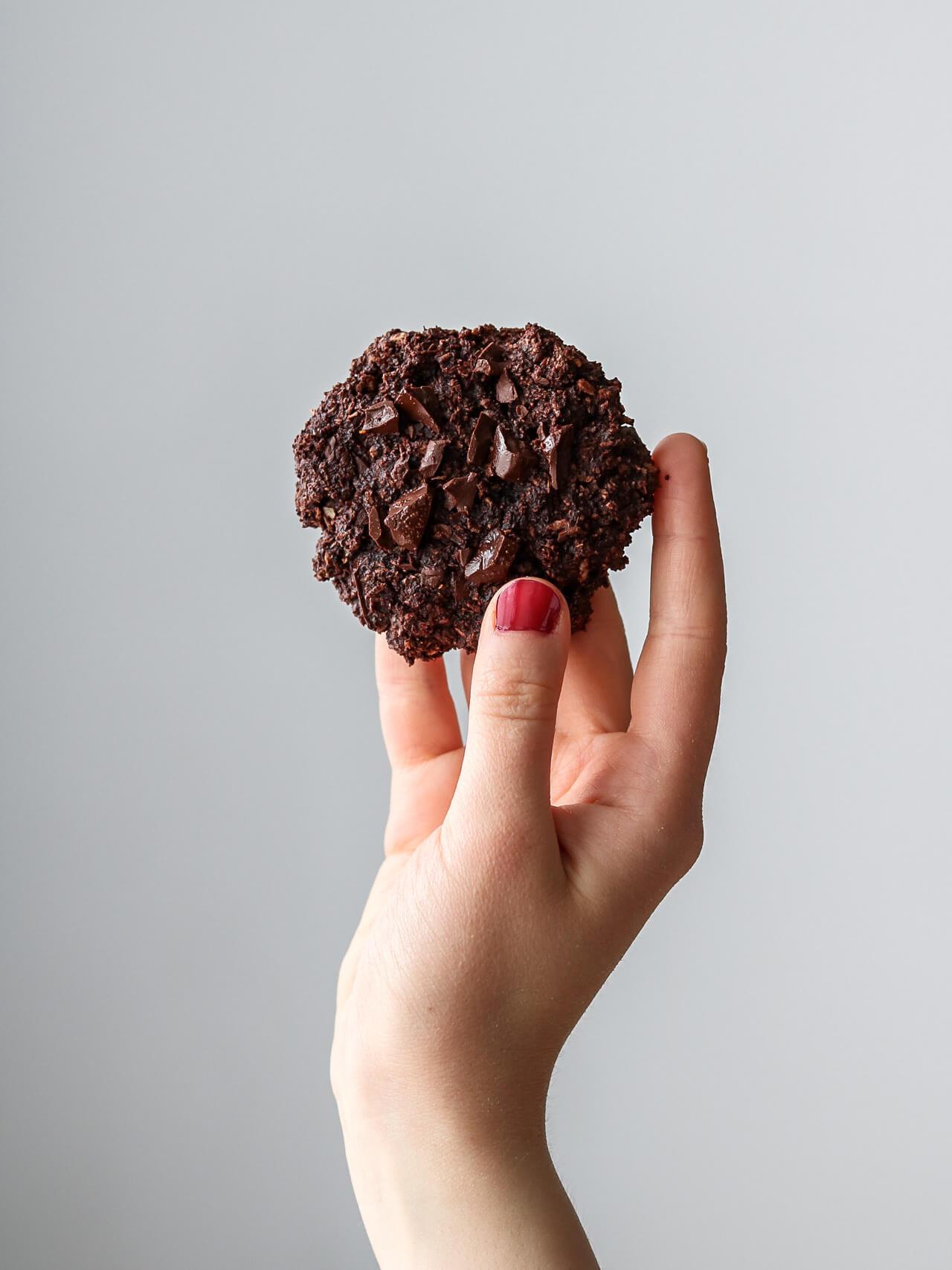 vegán csokis keksz