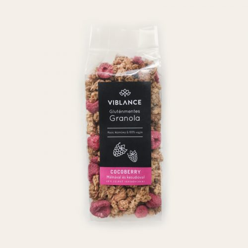Small bag of Viblance granola (250g) - Cocoberry with raspberries